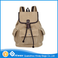 vintage canvas leisure backpack for teenage girls