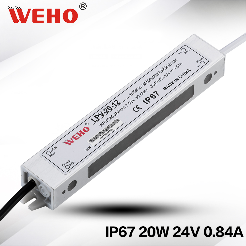 waterproof electronic led driver 24v 20w led power supply