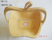 New Product for 2016 Moso Bamboo Apple Collapsible Folding Fruit Basket