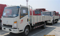 Sinotruk howo 4X2 LHD mini / small delivery truck 1ton - 5 ton