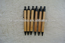ecological promotional bamboo pen with metal clip bamboo pen,recycled bamboo promotional pen,bamboo ballpoint pen