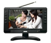2015 CHL 7 inch portable mpeg4 dvb-t dvb-t2 lcd digital hd tv, with analog TV and digital TV all in 1, USB, TF card reader