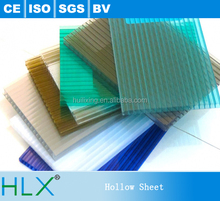 50um UV Coated PC Hollow Sheet PC Solid Polycarbonate Sheet Price