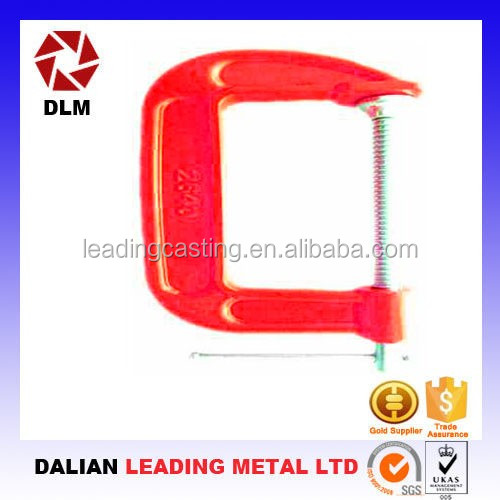 OEM customized flat steel c clamp of bar clamps for woodworking hand tools
