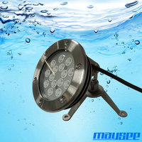 High quality stainless steel dmx led underwater pool light