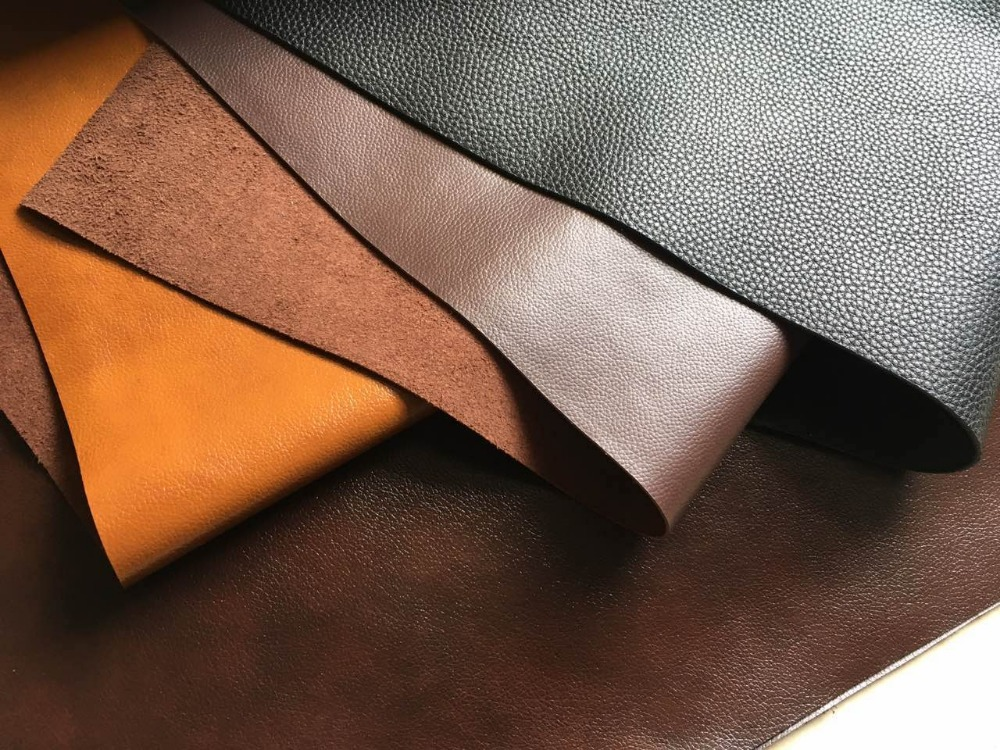 Pu coating natural leather for sofa and furniture and shoes , pu cow split leather for FURNITURE SOFA