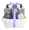 Lavender Scent Shower gel/body lotion/bubble bath/body scrub/spa gift set bath and body care products