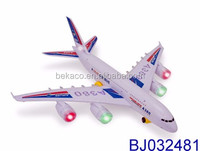 Bump And Go Big Electric A380 Action Airplane for Toddlers with Light and Sounds