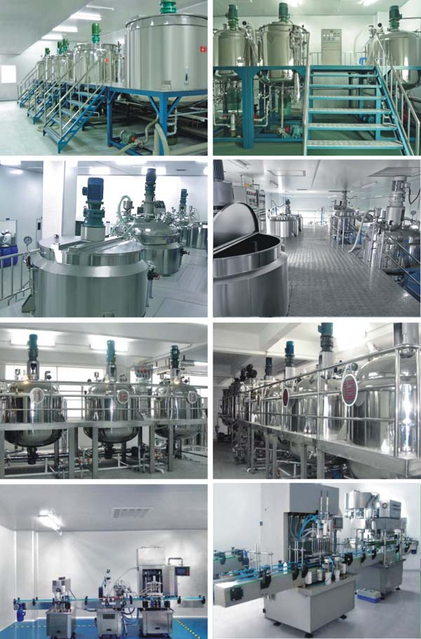 Stainless steel vacuum emulsifying mixer for Cosmetic cream / Food sauce / Phamaceutical gel in Guangzhou Factory