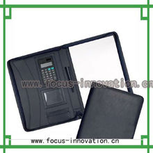 cheap wholesale leather organiser padfolio