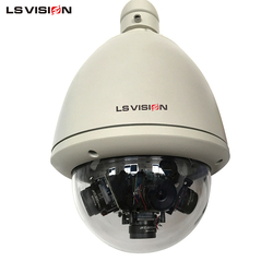 LS VISION CCTV Dome 3MP 360 Degree Lens Outdoor Camera With Color Night Vision