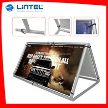 Aluminum outdoor promotional triangle display stand LT-23