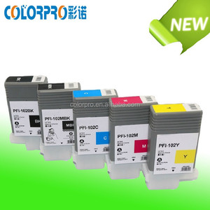 Large store new ink cartridge for canon PFI-102 for canon IPF700 IPF710 IPF720