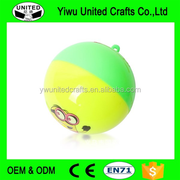 Mixed-color High Jumping Bouncing Rubber Ball , big rubber balls , Birthday Gift Bouncy Ball With Handle