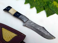 Custom Damascus FIX BLADE Hunting Knives