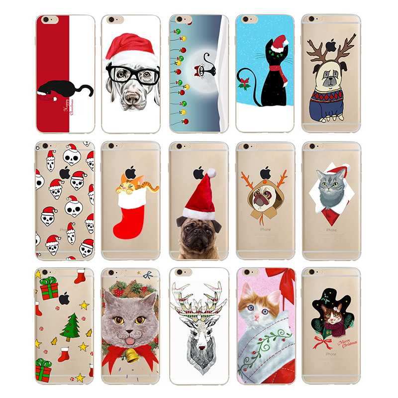 2016 hot selling shockproof christmas decor cell phone case for iphone 6s