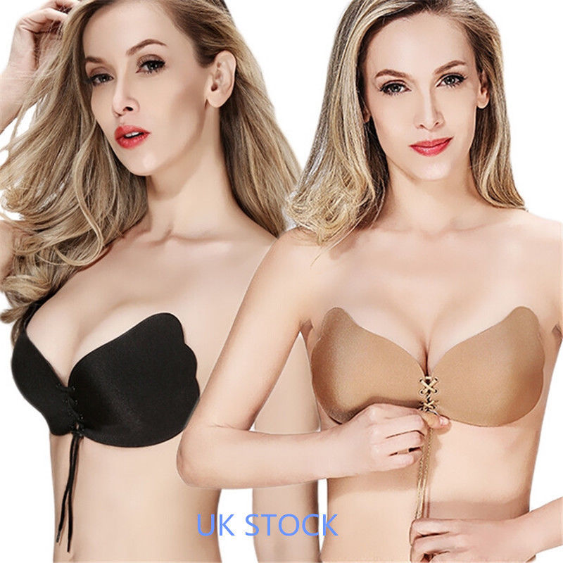 Sex Deep V Reusable Silicone Double Push Up Invisible Bras With Drawstring For Women,For Dress Wedding Party