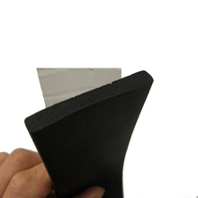 adhesive backed foam rubber seal edging strip