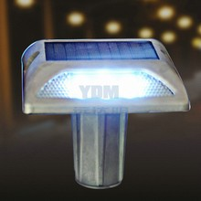 YDM aluminum LED solar cats eye road stud with stem for median