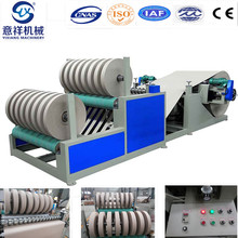 PLC control kraft paper rewinder slitter machine for toilet roll core tube