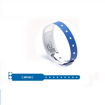 Disposable color paper rfid wristband for hospital/ticket identification