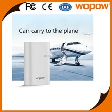 WOPOW new QC3.0 quick charge CE ROHS FCC 10000mah small size power bank