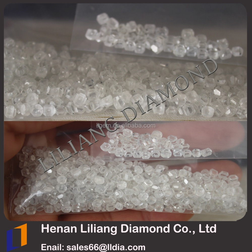 Henan Zhengzhou A+ quality rough diamond 2mm-3mm gemstone loose uncut white diamond buyer VVS one carat price