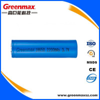 2200mAh rechargeable li-ion 3.7v 18650 li ion battery cell