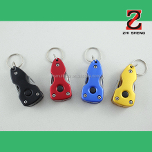 ZS-TB004 Multifunction knife keychain tool, multifunctional keyring tool with LED light