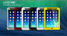 Love Mei Gorilla Glass Aluminum Waterproof Case For Ipad Air,Waterproof Cell Phone Case For Ipad Air