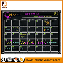 "17"" x 11"" Custom Monthly Dry Erase Magnetic Fridge Calendar Message White Board"
