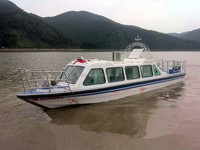 Cheap price enclosed fiberglass survival fishing yacht boat for sale