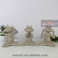 Ceramic Frog Yoga Figurine of Yoga Ceramic Figurines