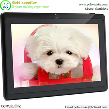 "Cheapest 7"" Tablet Q88 with A33 Quad Core Dual Cameras Tablet PC"