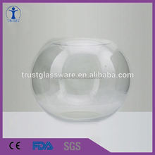 wholesale cheap good quality large glass fish bowl, round glass fish bowl fish shaped