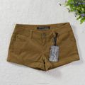 Hot style lady short pants solid corduroy woven hot shorts
