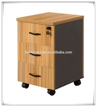 Cheap nice looking wood office furniture 3 drawer mobile filing cabinet