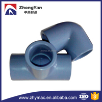 Grey Colour SCH 80 Socket Type End CPVC Pipe Fittings for chemical use