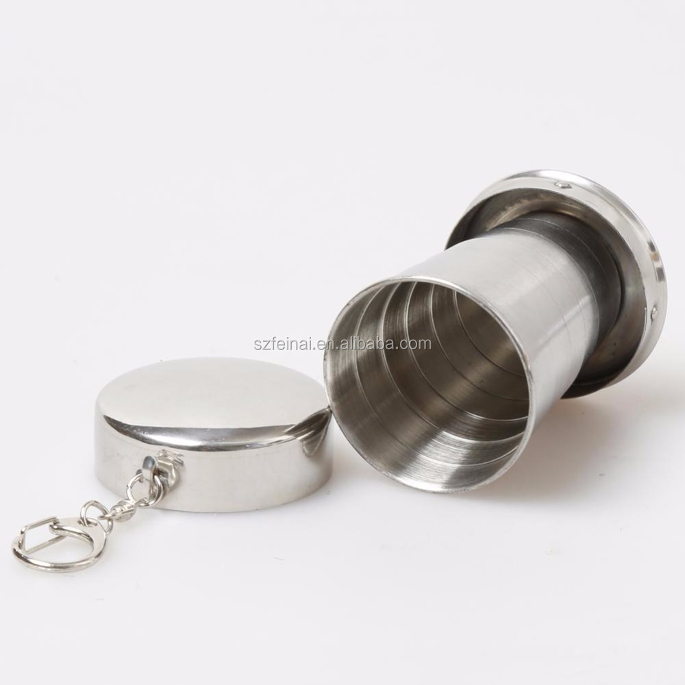75 ML Stainless Steel Cup Portable Travel Folding Collapsible Mugs Telescopic Folded Cups Collapsible Mug