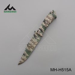 Army camo coated plastic handle high quality survival hunting knife