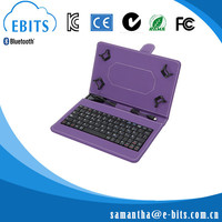 Hot outdoor wireless bluetooth keyboard with folding pu leather case on sale