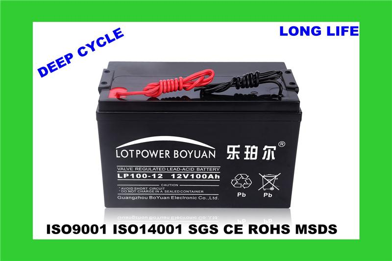 12v 65ah deep cycle exide battery GUANGZHOU storage cabinets battery LP100-12 black color battery Alibaba china supplier