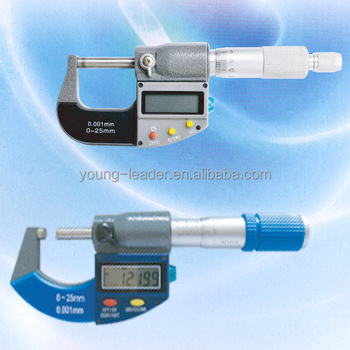 Range 0-200mm electronic outside digital micrometer
