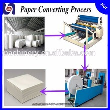Widely Used Semi Automatic Toilet Tissue Paper Facial Napkin Paper Converting Machine