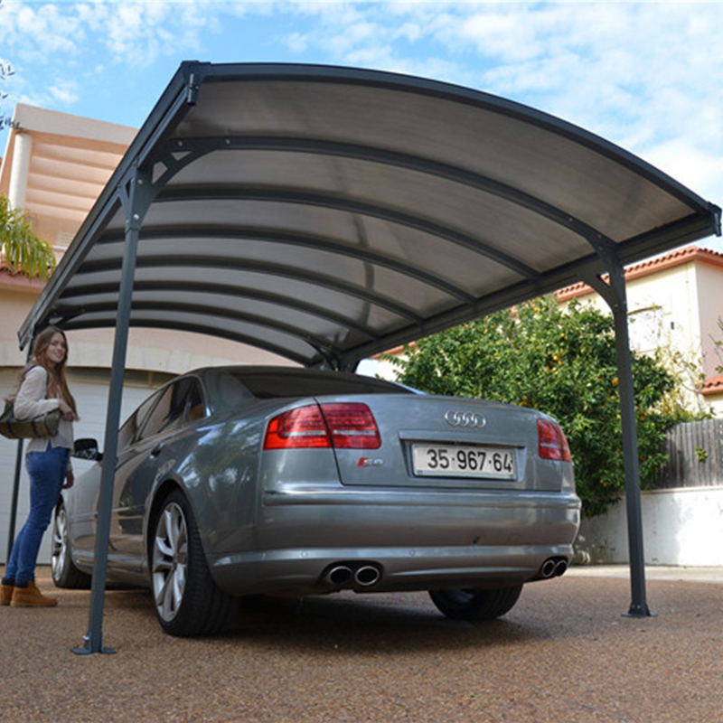 Modern aluminium carport with cantilever roof CE Proved European Modern Pergola Carport with Aluminium Frame and PC panel