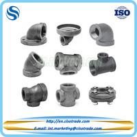 ASME B16.4 cast iron 90 degree pipe elbow flange & screw cast iron pipe fitting