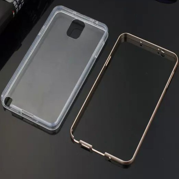 Metal Frame TPU Soft Back Cover Case For Samsung Galaxy Note 3
