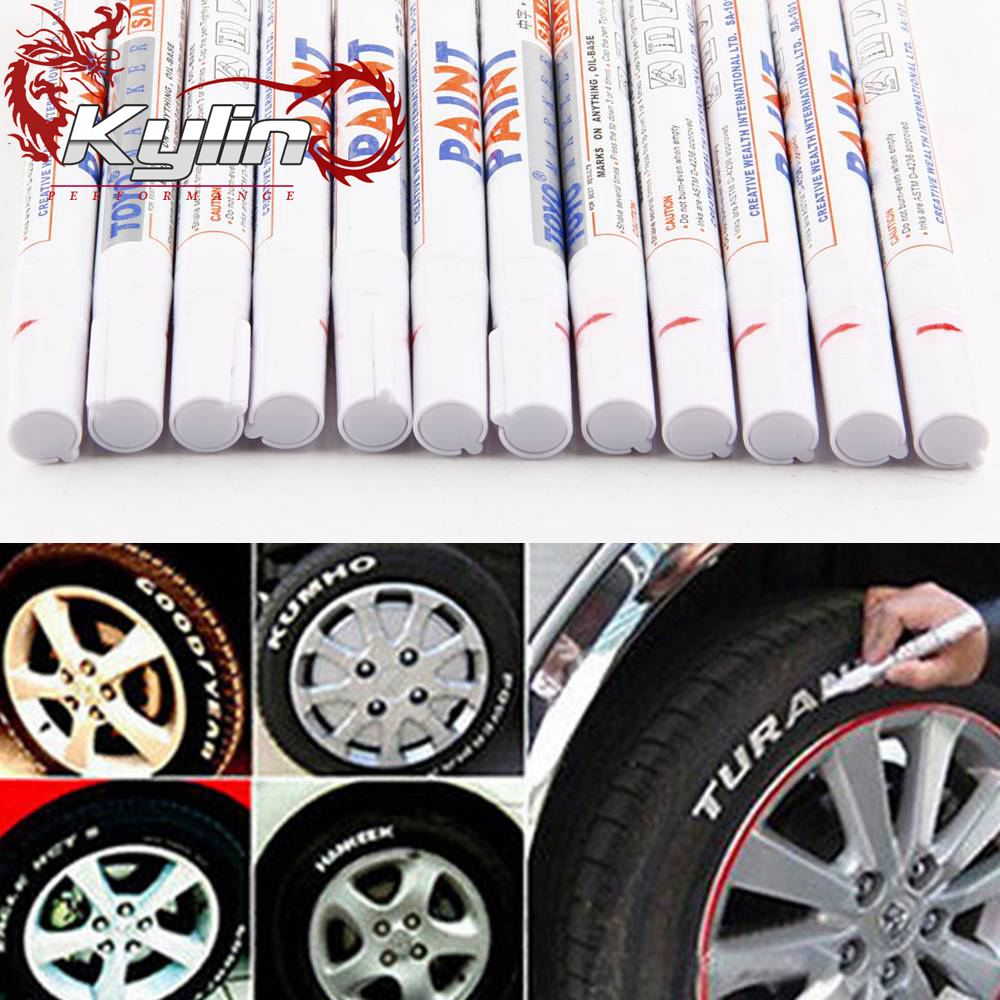 Ryanstar Universal Motorcycle Auto Waterproof Tire Rubber Wheel Paint Marker Pen Permanent 10 Colors