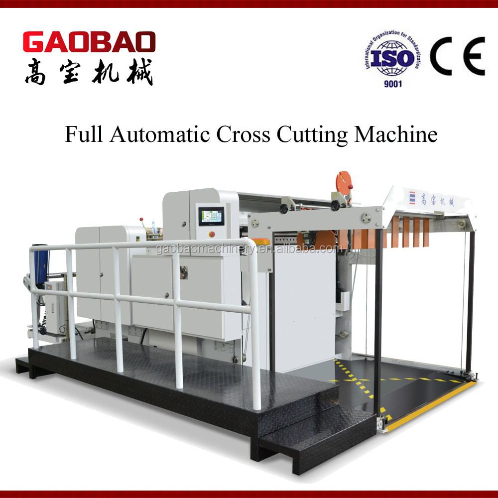 Full Automatic Adhesive Sticker Label Roll To Sheet Cutting Machine