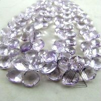 Pink Amethyst Briolette Wholesale Beads Strand, Natural Wholesale Precious & Semi Precious Color Gems Stone from Jaipur
